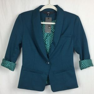 NWT Mossimo teal business casual blazer